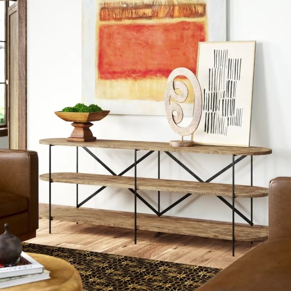 We Young Wood Console Table