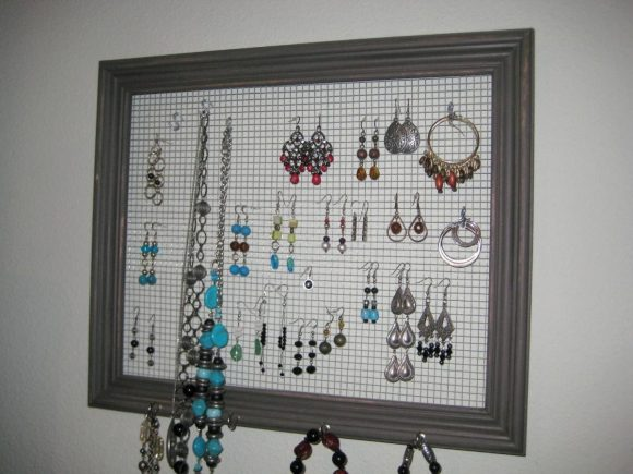 Jewelry Holder from Old Picture Frames