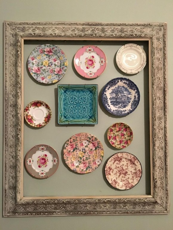 Large Vintage Picture Frames with Platters