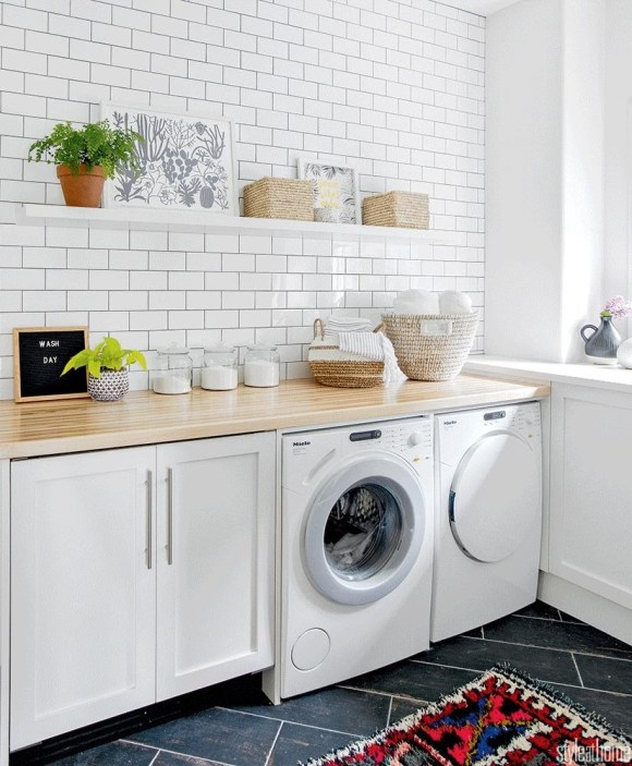 Fresh and Airy Laundry Room