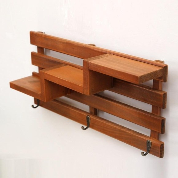 Hanging Storage with Wooden Shelf