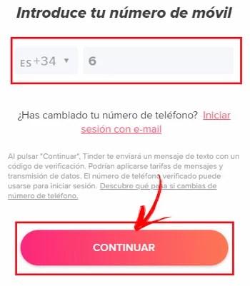 ¿Como resolver el error de verificación y SMS de Tinder