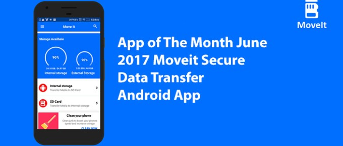 App of The Month June 2017 Moveit Secure Data Transfer Android App