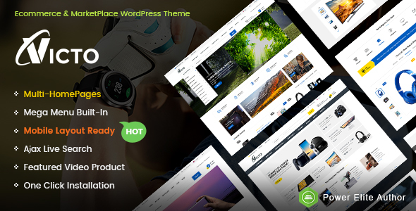 Victo - Professional eCommerce & MarketPlace WordPress Theme (Mobile Layouts Included)