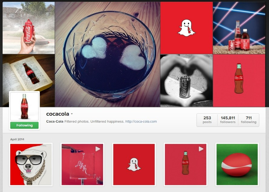 Instagram coca-cola