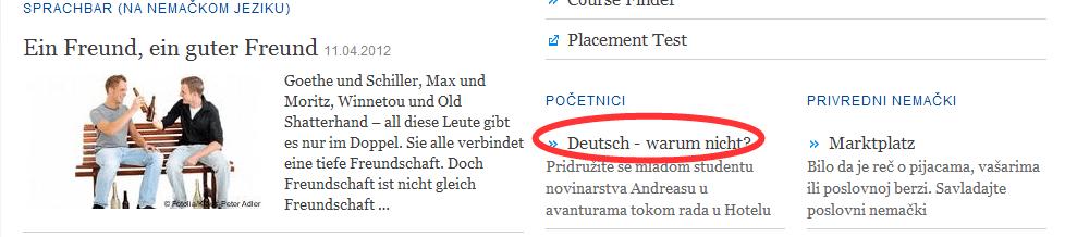 nemacki za pocetnik1 Naučite nemački besplatno preko Interneta