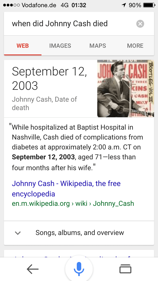 Johnny Cash Entity Optimierung