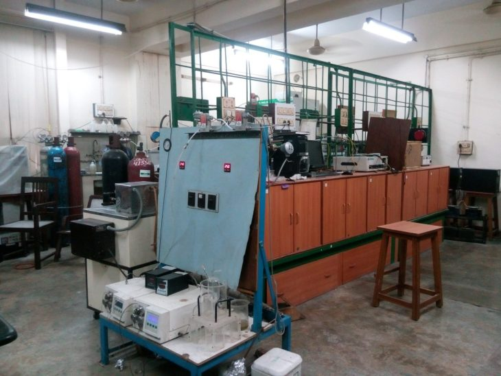 The experimental area of the lab