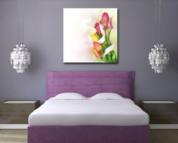Stampa su tela - fascio di tulipani