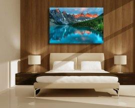 stampa su tela-paesaggio lacustre