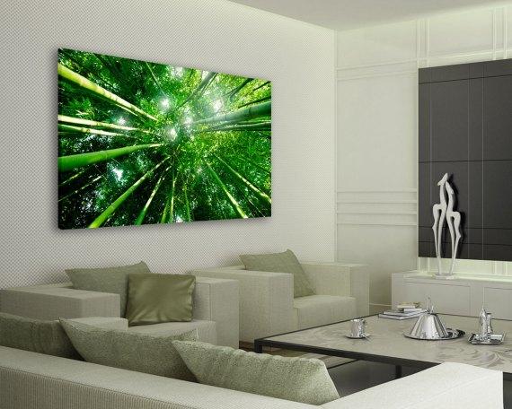 stampa su tela-sole tra i bamboo