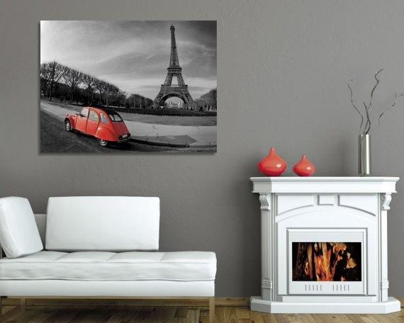 stampa su tela-per le strade di parigi