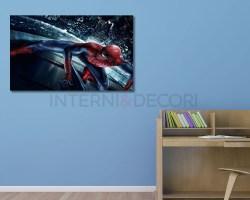 stampa su tela-spiderman sui grattacielittà