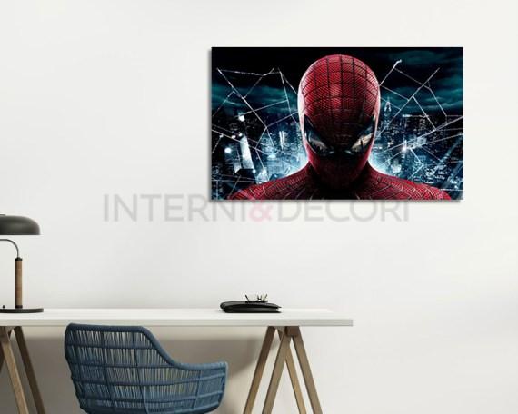 stampa su tela-spiderman sulla città