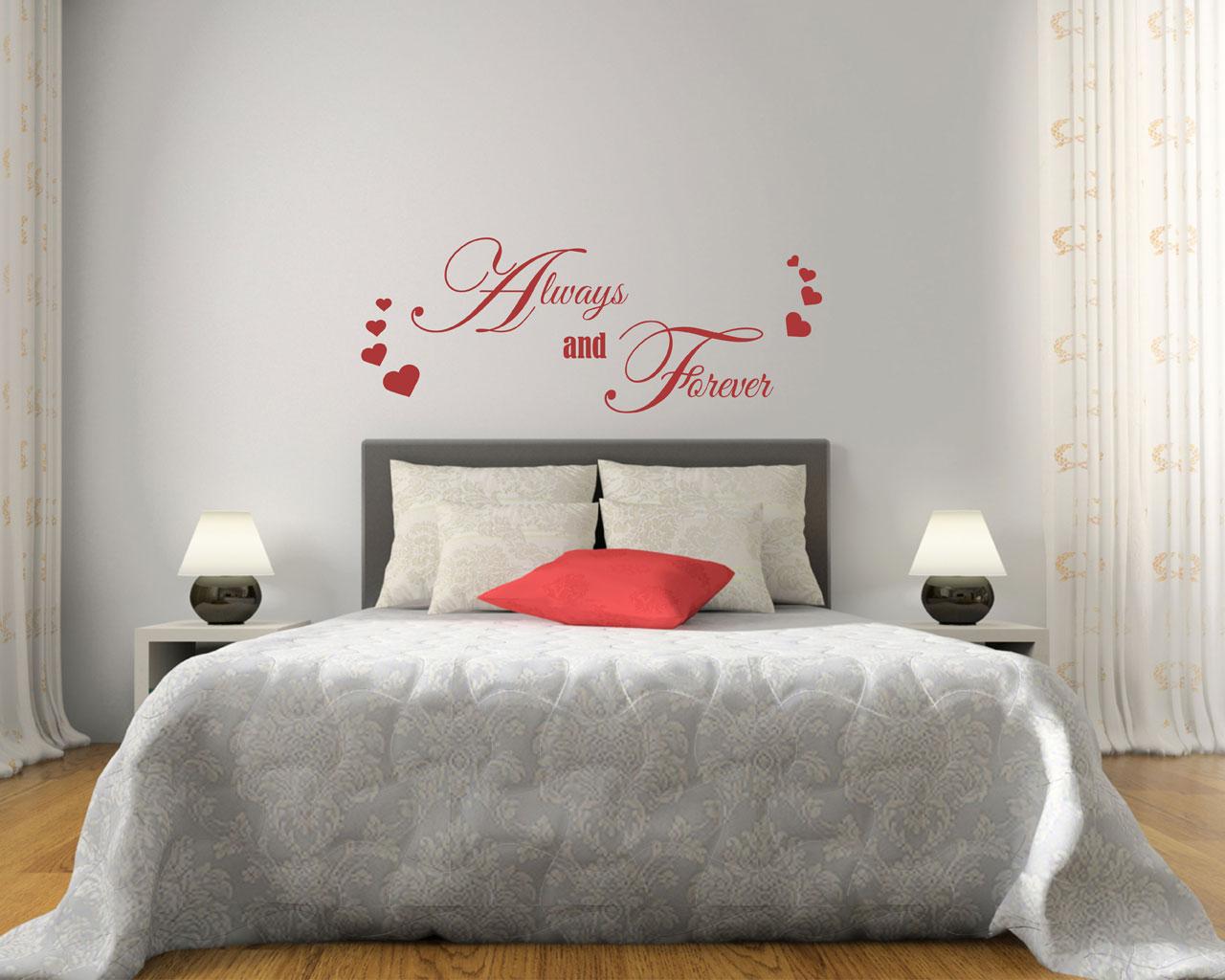 Adesivo da parete amore always and forever adesivo for Ikea stampe parete