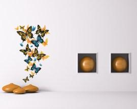 adesivo murale-farfalle in volo