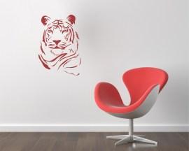 adesivo murale-tigre possente