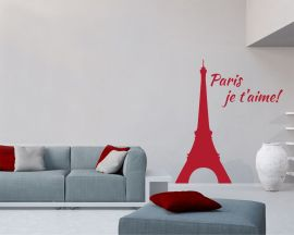 Adesivo murale-ti amo romantica Parigi