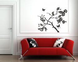 arbusto fiorito-adesivo murale