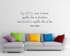 adesivo murale-Oscar Wilde-La felicità non è...