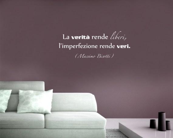 adesivo murale-Massimo Bisotti-la verità rende liberi
