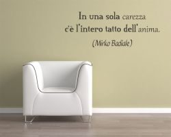 adesivo murale-Mirko Badiale-in una sola carezza