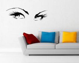 adesivo murale-occhi di donna