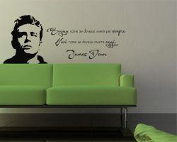 adesivo murale-sogna come se...