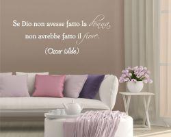 adesivo murale-Oscar Wilde-la donna è un fiore