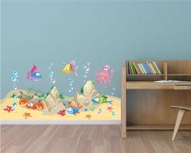 adesivo murale-in fondo al mar