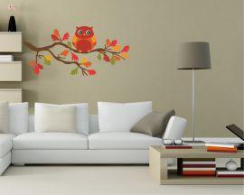 adesivo murale-gufetto solitario