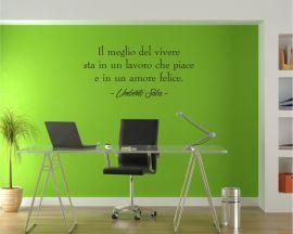 Adesivo murale-il meglio del vivere