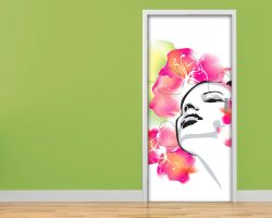 Adesivo per porte-viso tra i fiori