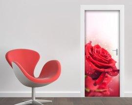 Adesivo per porte-una delicata rosa