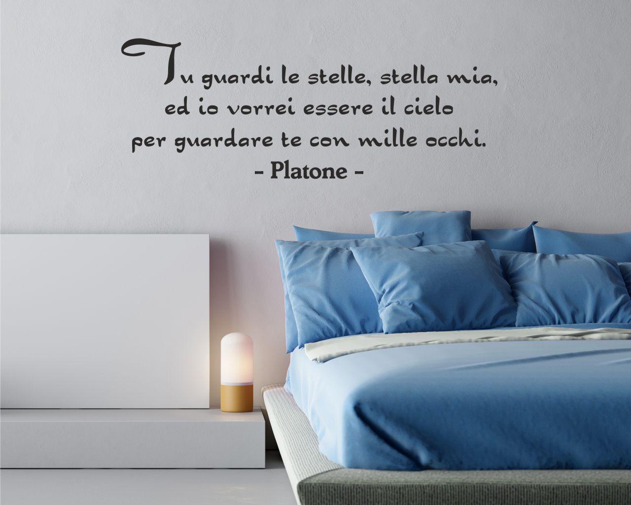 Platone Vorrei Essere Il Cielo Frasi Aforismi Citazioni Adesivo Murale