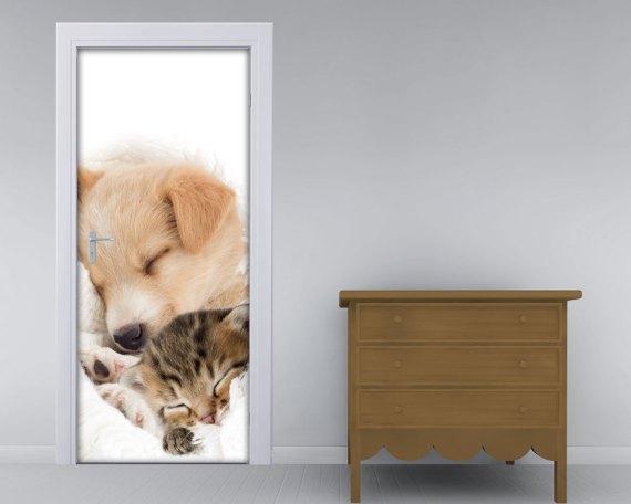 Adesivo per porte-amici cuccioli
