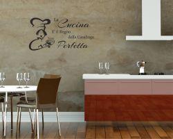 Adesivo murale-la cucina è il regno...