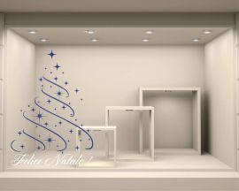 Adesivo per vetrine-Felice Natale con stelline