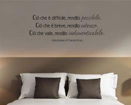 Adesivo murale-Antonio Curnetta - ciò che è difficile...