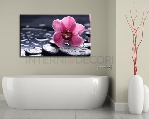 Delicata orchidea rosa-stampa su tela