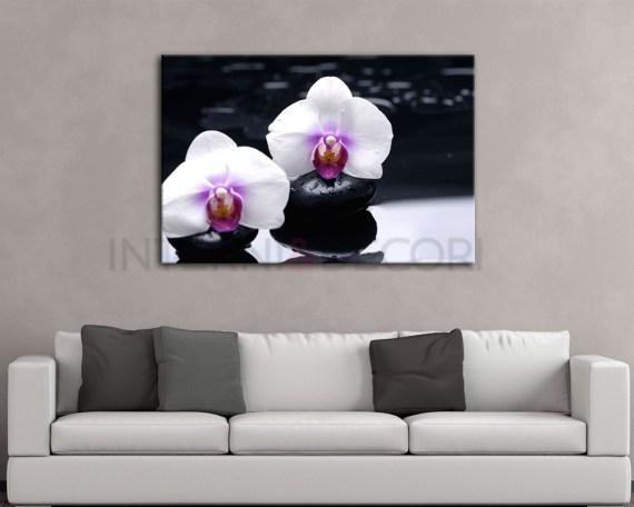 Candide orchidee bianche-stampa su tela
