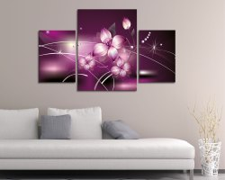 Stampa su tela-purple flowers