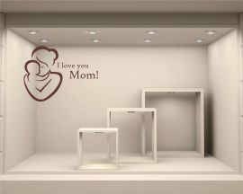 Adesivo per vetrine-I love you Mom!