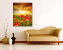 Stampa su tela-un campo di tulipani