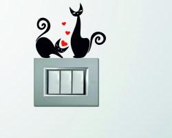Mini sticker murale-gattini con cuori