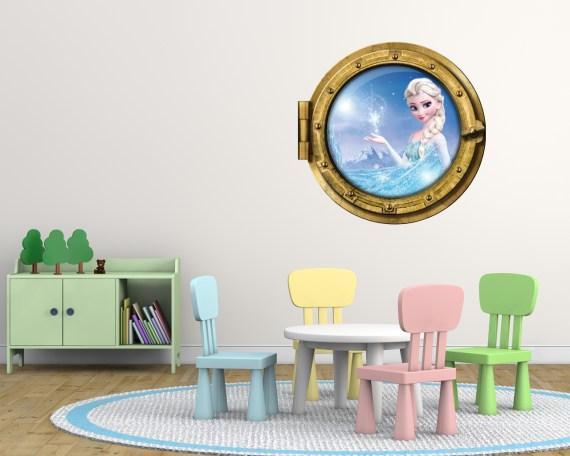 Frozen il Regno di ghiaccio: Elsa-sticker oblò