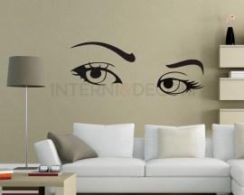 Adesivo murale-occhi di ragazza