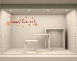 Adesivo per vetrine-Primavera di Pasqua