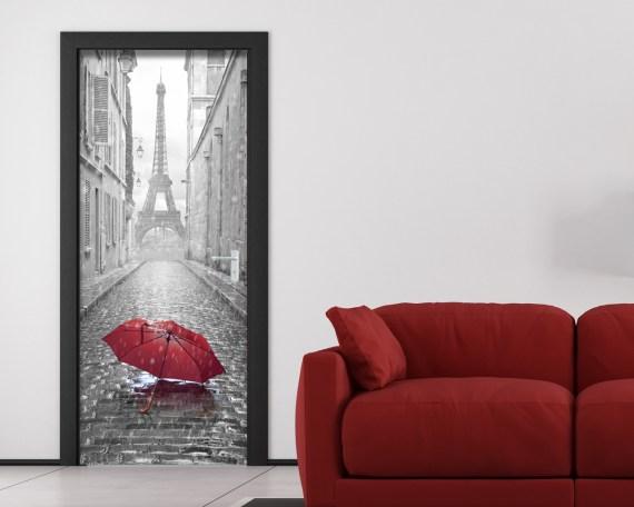 Adesivo per porte-Tra le strade di Parigi