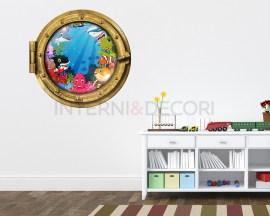 Sticker oblò-saluti dagli abissi-Infanzia-adesivo 3d muro